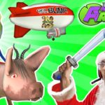 AMAZING FROG SANTA rides DEMON PIG! MERRY FARTING CHRISTMAS! Blimp Crashing – 3x Rollover | Part 5