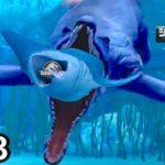 いつまでも最強な海の怪物『プリオサウルス』がサメにかぶりつく瞬間!#13【 Jurassic World: The Game 】実況