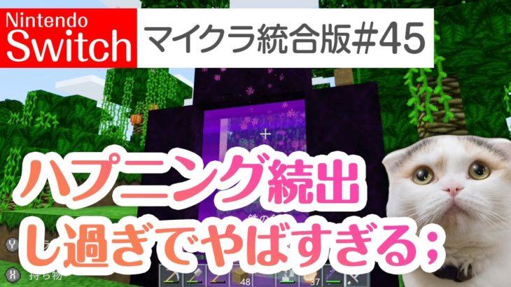 【Switch版マイクラ実況#45】ハプニング続出!ジャングルへネザー経由の近道を作る!【統合版】